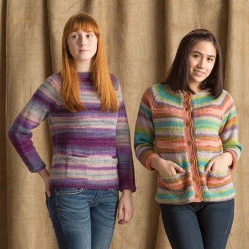 Classic Elite Yarns 1417 Simple Sweaters With Pockets PDF -  ()