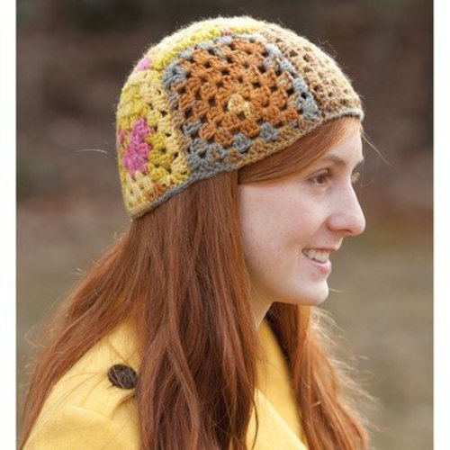 Classic Elite Yarns 9198 Granny Square Patchwork Hat PDF -  ()