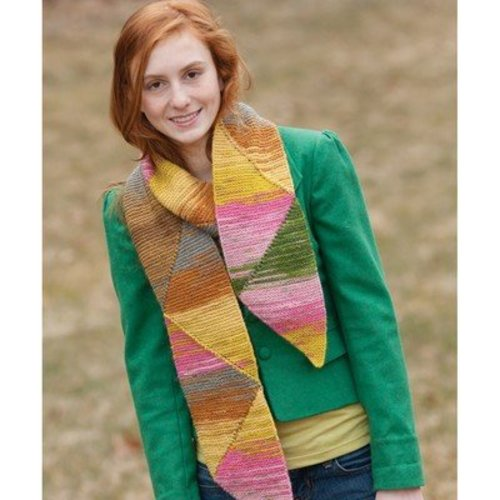 Classic Elite Yarns 9198 Short Row Triangle Scarf PDF -  ()