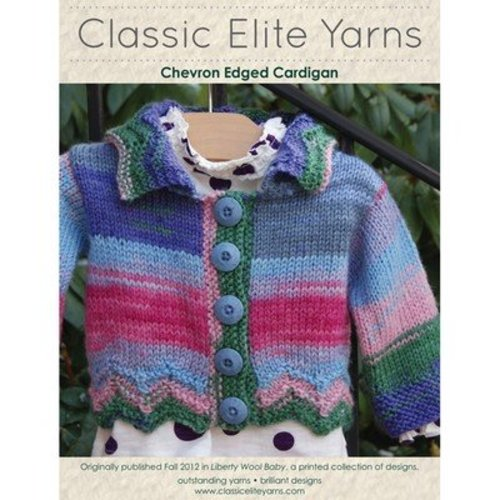 Classic Elite Yarns 9208 Chevron Edged Cardigan PDF -  ()