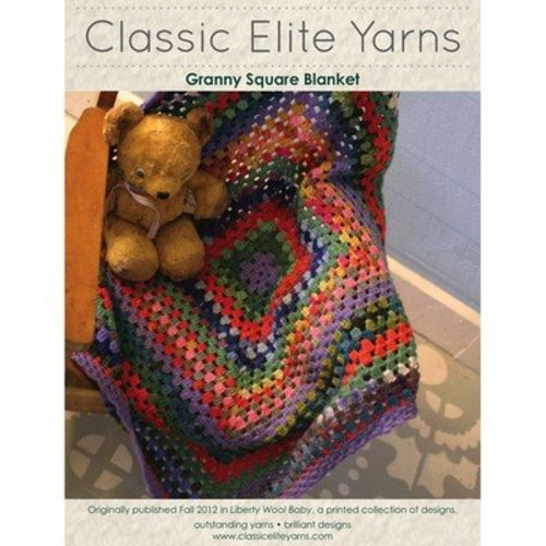 Classic Elite Yarns 9208 Crochet Granny Square Blanket PDF -  ()