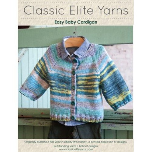 Classic Elite Yarns 9208 Easy Baby Cardigan PDF -  ()