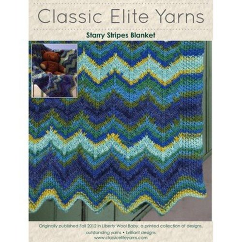 Classic Elite Yarns 9208 Starry Stripes Blanket PDF -  ()