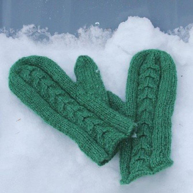 Classic Elite Yarns Cabled Mittens Free At Webs Yarn