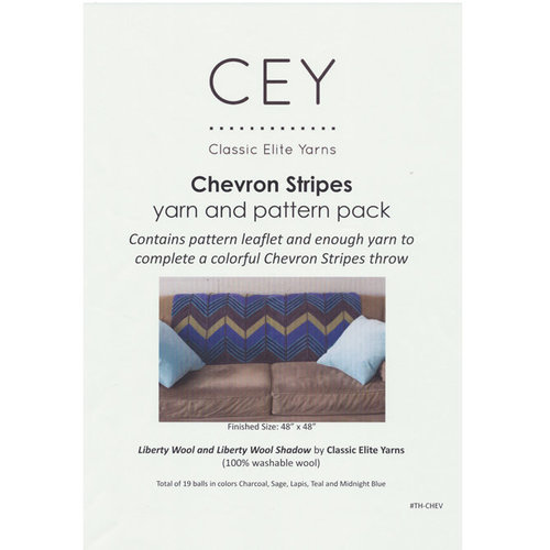 Classic Elite Yarns Chevron Stripes Throw Kit - Original (ORIG)