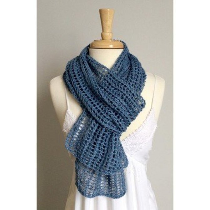 Classic Elite Yarns Firefly Mesh Scarf (Free) at WEBS | Yarn.com
