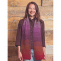 Classic Elite Yarns Gradient Scarf Kit - Reds, Purples, Brown (29011)