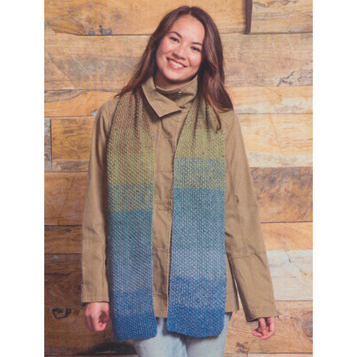 Classic Elite Yarns Gradient Scarf Kit - Blues, Greens, Brown (29012)