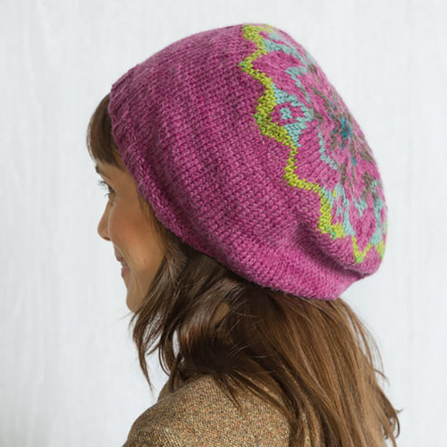 Classic Elite Yarns Liberty Wool Shadow Colorwork Hat Kit - Model Color (1)
