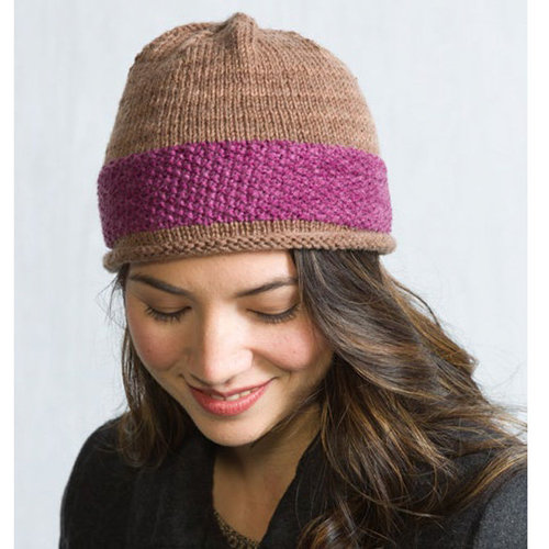 Classic Elite Yarns Liberty Wool Shadow Easy Two Color Hat PDF -  ()
