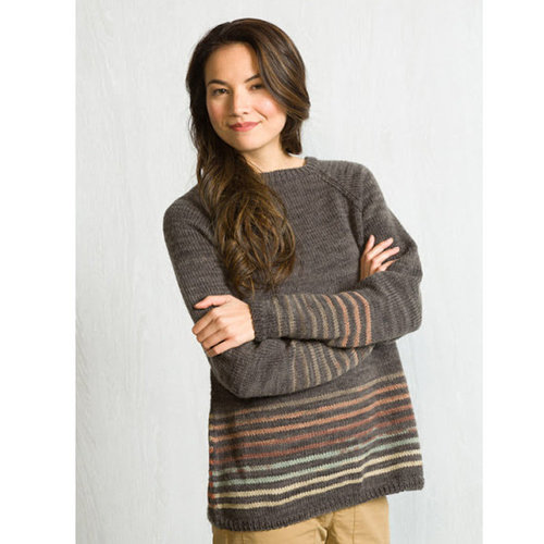 Classic Elite Yarns Liberty Wool Shadow Raglan Pullover Kit - XS (1)