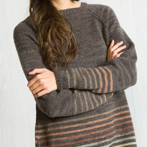 Classic Elite Yarns Liberty Wool Shadow Raglan Pullover Kit -  ()