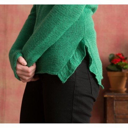Classic Elite Yarns Ruffle Pullover (Free) -  ()