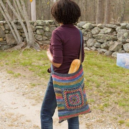 Classic Elite Yarns Striped Summer Bag (Free) -  ()