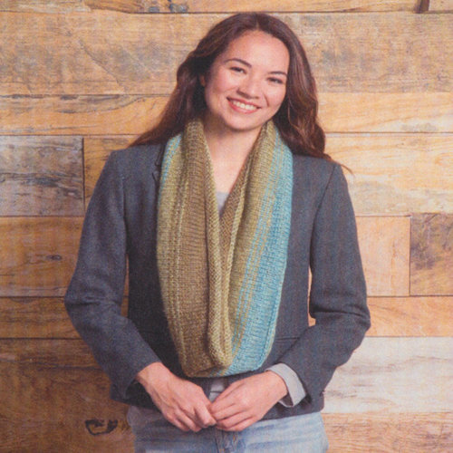 Classic Elite Yarns Three Color Cowl Kit - Olives, Light Teal (74012)