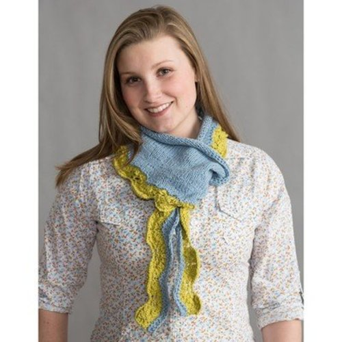 Classic Elite Yarns Two-Color Seedling Scarf (Free) -  ()