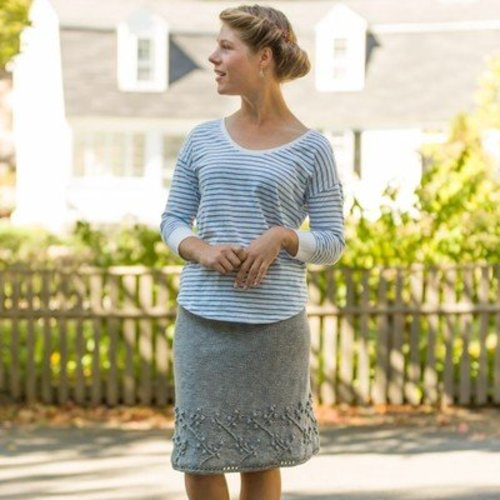 Classic Elite Yarns Viewpoints 1514 From Folly Cove - Curtis Skirt PDF -  ()