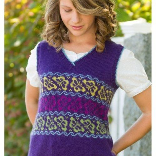 Classic Elite Yarns Viewpoints 1514 From Folly Cove - Iarrobino Butterfly Vest PDF -  ()