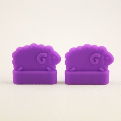 Clover Double Pointed Needle Protectors - Large (purple) (LARGE)