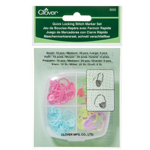 Clover Quick Locking Stitch Marker Set -  ()