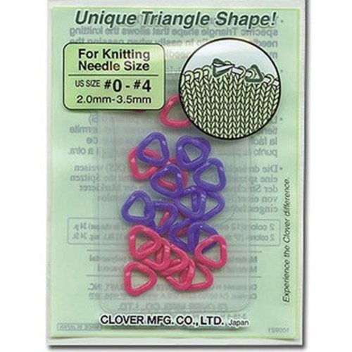 Clover Stitch Markers Triangle (XS) -  ()