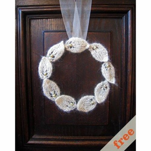 Cocoknits Knitted Wreath (Free) -  ()