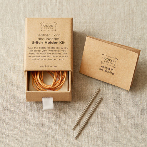Cocoknits Leather Cord and Needle Stitch Holder Kit -  ()