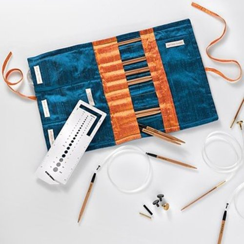 Colonial Needle Company Bamboo Circular Interchangeable Knitting Needle Set -  ()