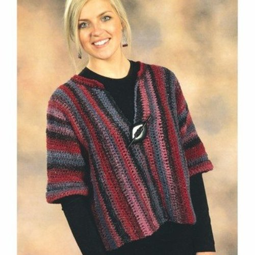 Crocheted Side-to-Side Cardigan -  ()