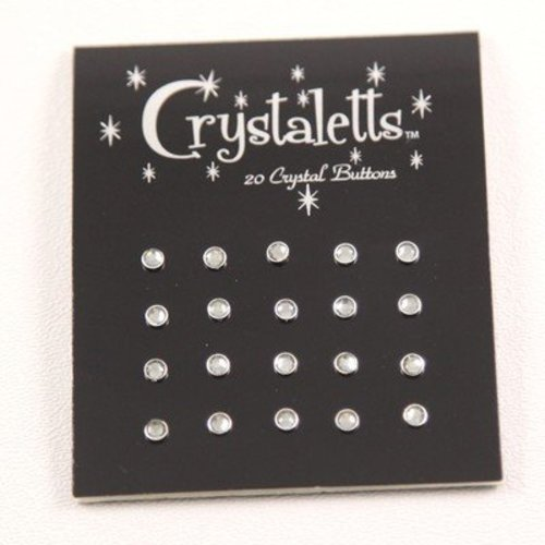 Crystaletts 3mm Crystal Buttons 20 Carded -  ()