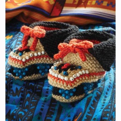 Debbie Bliss Beaded Moccasins PDF - Magazine #9 -  ()