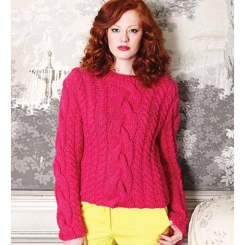 Debbie Bliss Cable & Moss St Sweater PDF -  ()