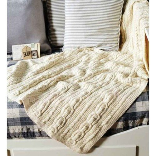 Debbie Bliss Cabled Throw PDF -  ()