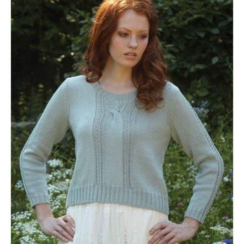 Debbie Bliss Cropped Cable Sweater PDF - Magazine #10 -  ()