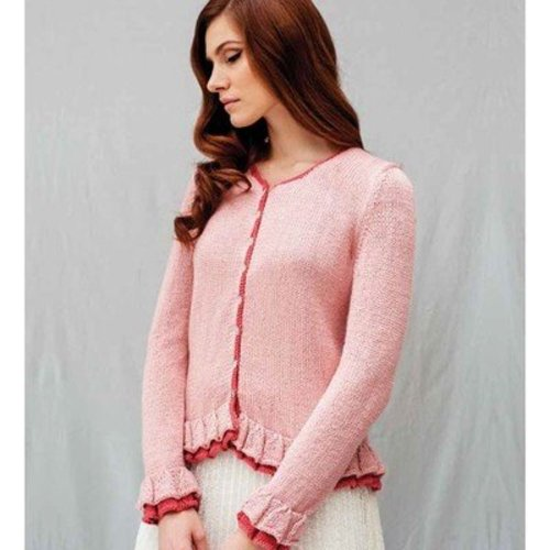 Debbie Bliss Frill-Edged Cardigan PDF -  ()