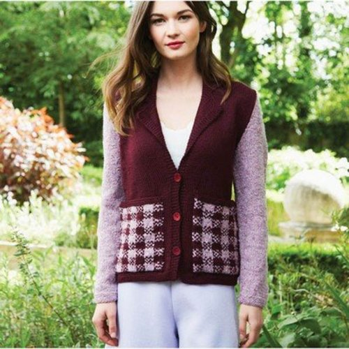 Debbie Bliss Jacket With Tartan Pockets PDF -  ()