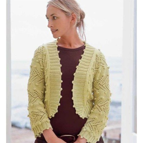 Debbie Bliss Lace & Bobble Jacket PDF -  ()