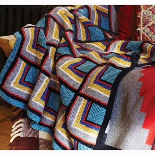 Debbie Bliss Log Cabin Blanket PDF - Magazine #9 -  ()