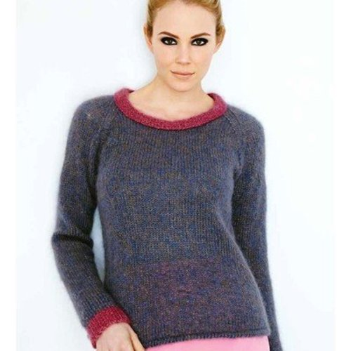 Debbie Bliss Pink-Edged Sweater PDF -  ()