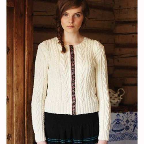 Debbie Bliss Ribbon Edged Cardigan PDF - Magazine #9 -  ()