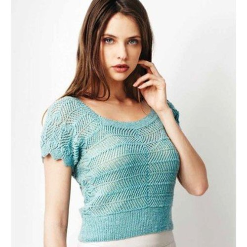 Debbie Bliss Sideways Knitted Pullover PDF -  ()
