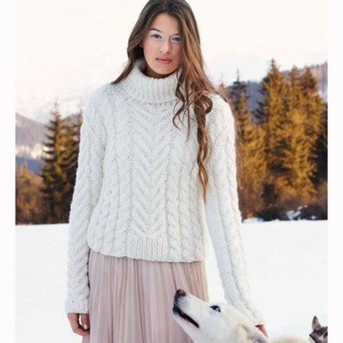 Debbie Bliss Turtleneck Cabled Sweater PDF - Magazine #9 -  ()