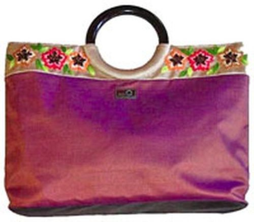 della Q Embroidered Large Tote -  ()