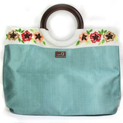 della Q Embroidered Medium Tote -  ()