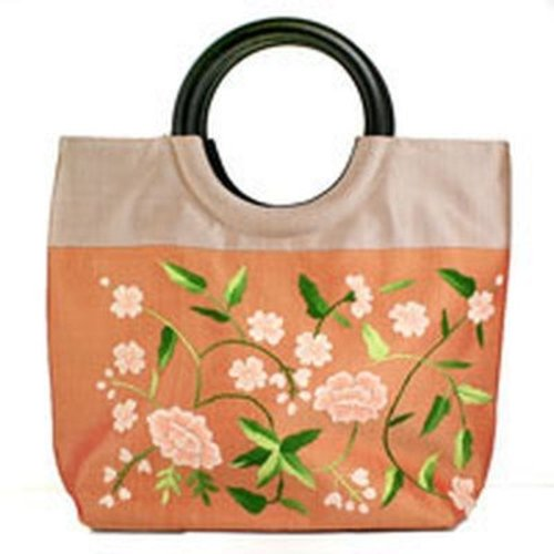 della Q Floral Vines Small Bag with Round Handle -  ()
