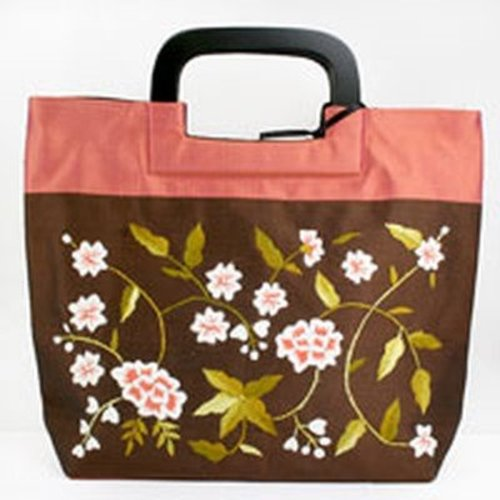 della Q Floral Vines Small Bag with Square Handle -  ()