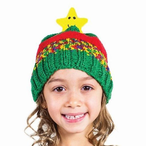 Kids Hat Knitting Kits Characters Christmas Wool DMC Top This