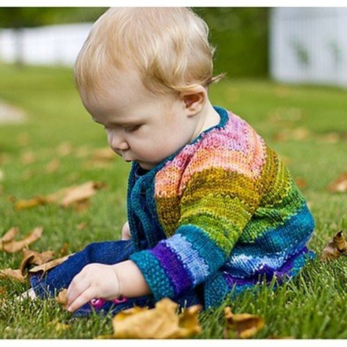 Dream in Color 604 Tulip Baby Cardigan PDF -  ()
