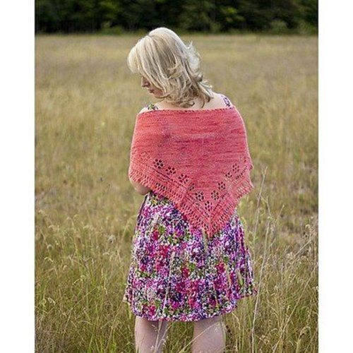 Dream in Color Summer Rose Shawl PDF -  ()