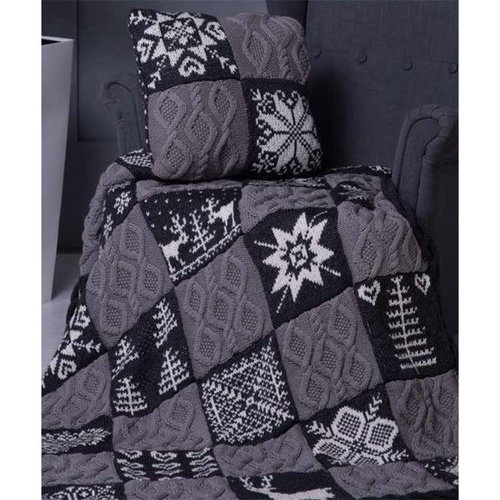 Ella Rae 1139-07 Nordic Winter Afghan & Cushion PDF -  ()